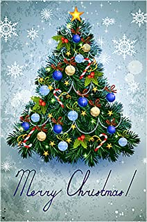 Morigins Colorful Christmas Tree Garden Flag House Banner 28 x 40 inch, Winter Happy New Year Decorative Flag for Party Yard Home Outdoor Decor