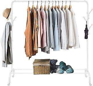 Amzdeal Portant Penderie à vêtement Mobile, Portemanteau Multifonctionnel 3 en 1 avec Crochets en Forme d'Arbre, pour Accr...