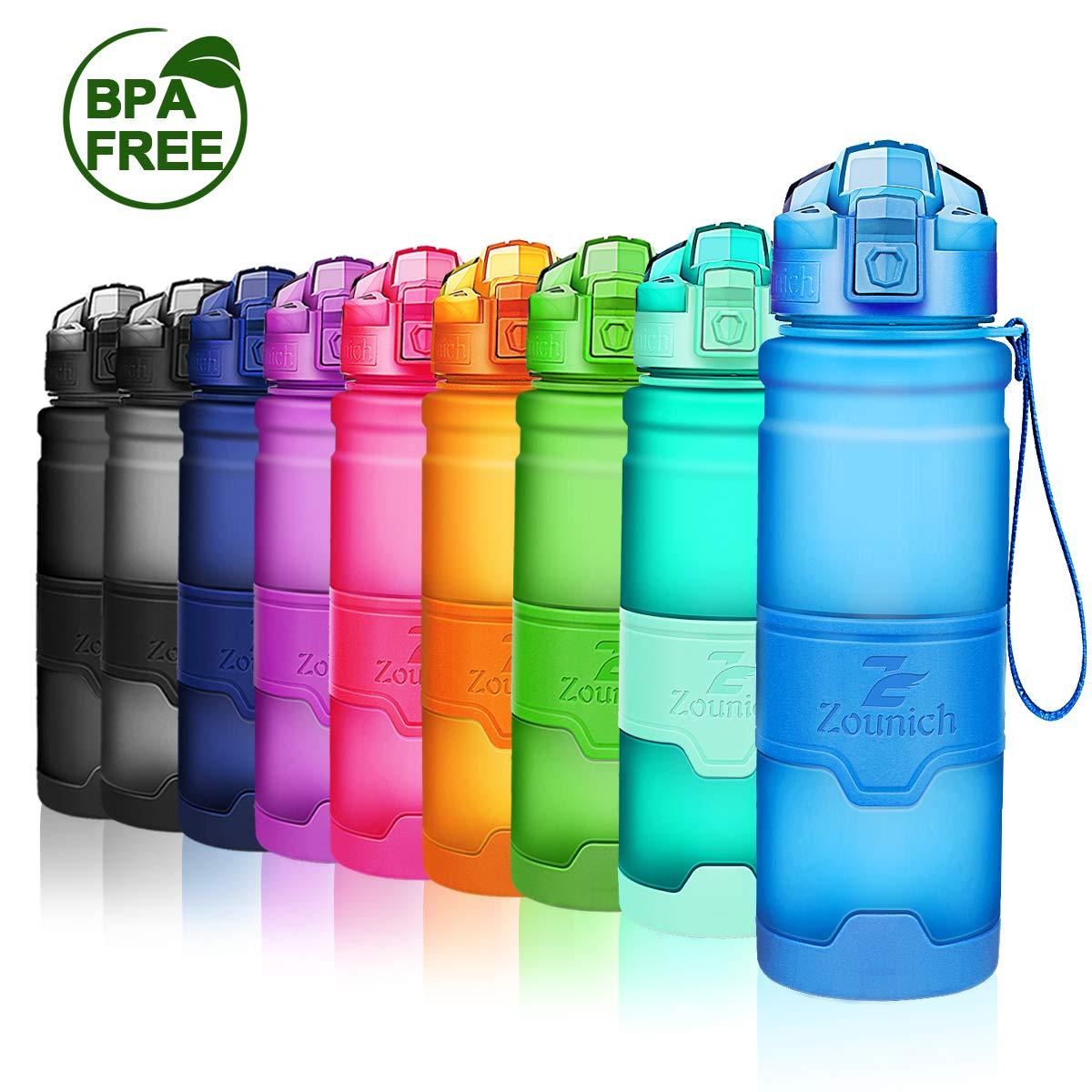 ZOUNICH Sport Leakproof Water Bottle Bpa Free Tritan Plastic 14oz//400ml