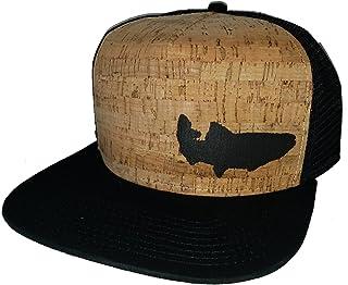 d7a914d19fd ThatsRad Trout Fly Fishing Cork Snapback Mesh Trucker Hat Cap Flat Brim  Fisherman