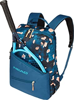 HEAD-Women`s Tennis Backpack Blue and Coral-(726424792146)