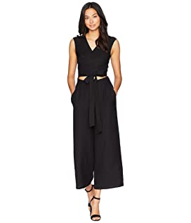 Sleeveless Wrap Front Jumpsuit
