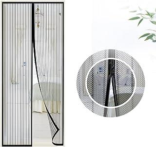 Samione Mosquitera Puerta magnetica, Fiberglass magnético Puerta de la Pantalla de Insectos, protección de Insectos Cortina magnética Mosca Cortina para Sala de Estar balcón, (90 * 210cm,Negro)