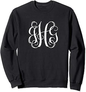 Monogram Initials JGH Gift. Script Monogram Letters JGH Sweatshirt