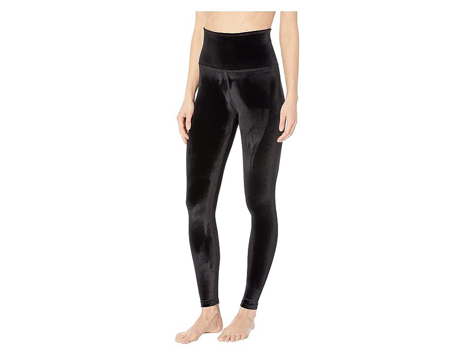 Beyond Yoga Velvet High-Waisted Midi Leggings (Black) Women
