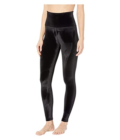 Beyond Yoga Velvet High-Waisted Midi Leggings (Black) Women