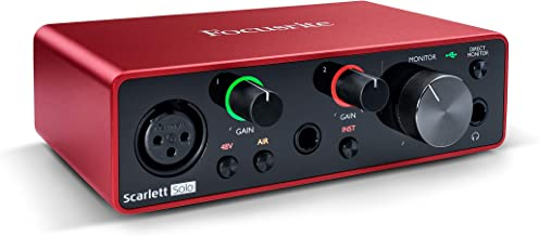Focusrite Scarlett Solo (3rd Gen) USB Audio Interface with Pro Tools, First