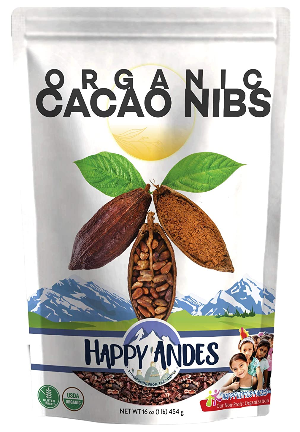 Happy Andes Organic Cacao Nibs, 1 Pound