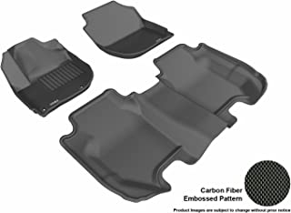 3D MAXpider Complete Set Custom Fit All-Weather Floor Mat for Select Honda Fit Models - Kagu Rubber (Black)