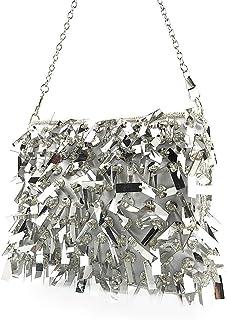Fresh wild simple fashion Fashion Beaded Sequins Banquet Clutch Bag For Women Handmade Beaded Chain Evening Bag Europe & A...