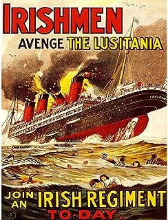 Wee Blue Coo Propaganda War WWI UK Irish Men Lusitania Unframed Wall Art Print Poster Home Decor Premium