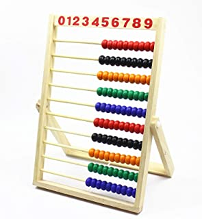 MAGIKON Wooden Counting Number Frame , 10 Rows Abacus for Kids Learning Math (11-1/2-Inch)