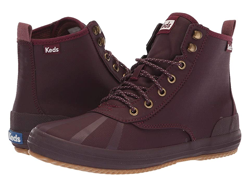 Keds Scout Boot Splash Twill Wax (Burgundy) Women
