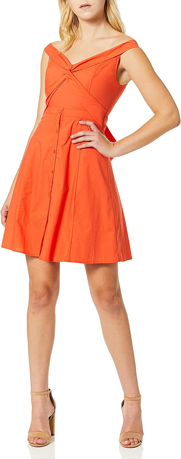 ASTR the label Women's Brittany Off The Shoulder Fit & Flare Casual Dress with Belt