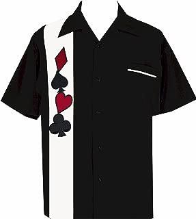 Men's Short-Sleeve Gambling Poker Shirt ~ Wild Card Suit Casino T-Shirt