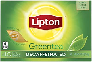 Lipton Green Tea Bags, Decaffeinated, (40 ct/pack) (pack of 6)