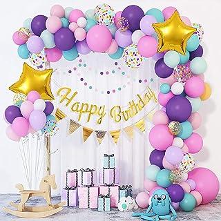 102Pcs Mermaid Theme Birthday Party Decorations Mermaid Birthday Balloons Mermaid Party Supplies For Girls Women 1st 2rd B...