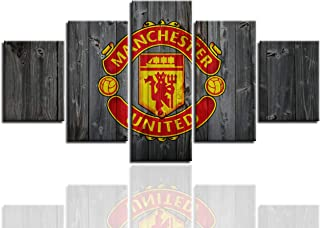AsheArt Wall Art Manchester United Football Club Poster with Frame Wall Decor Pictures Canvas Prints Painting Decoration Ready to Hang(60''Wx32''H)