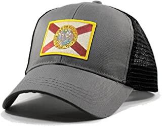 b801420553732 Homeland Tees Men s Florida Flag Patch Trucker Hat