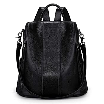 S-ZONE Women Soft Leather Backpack