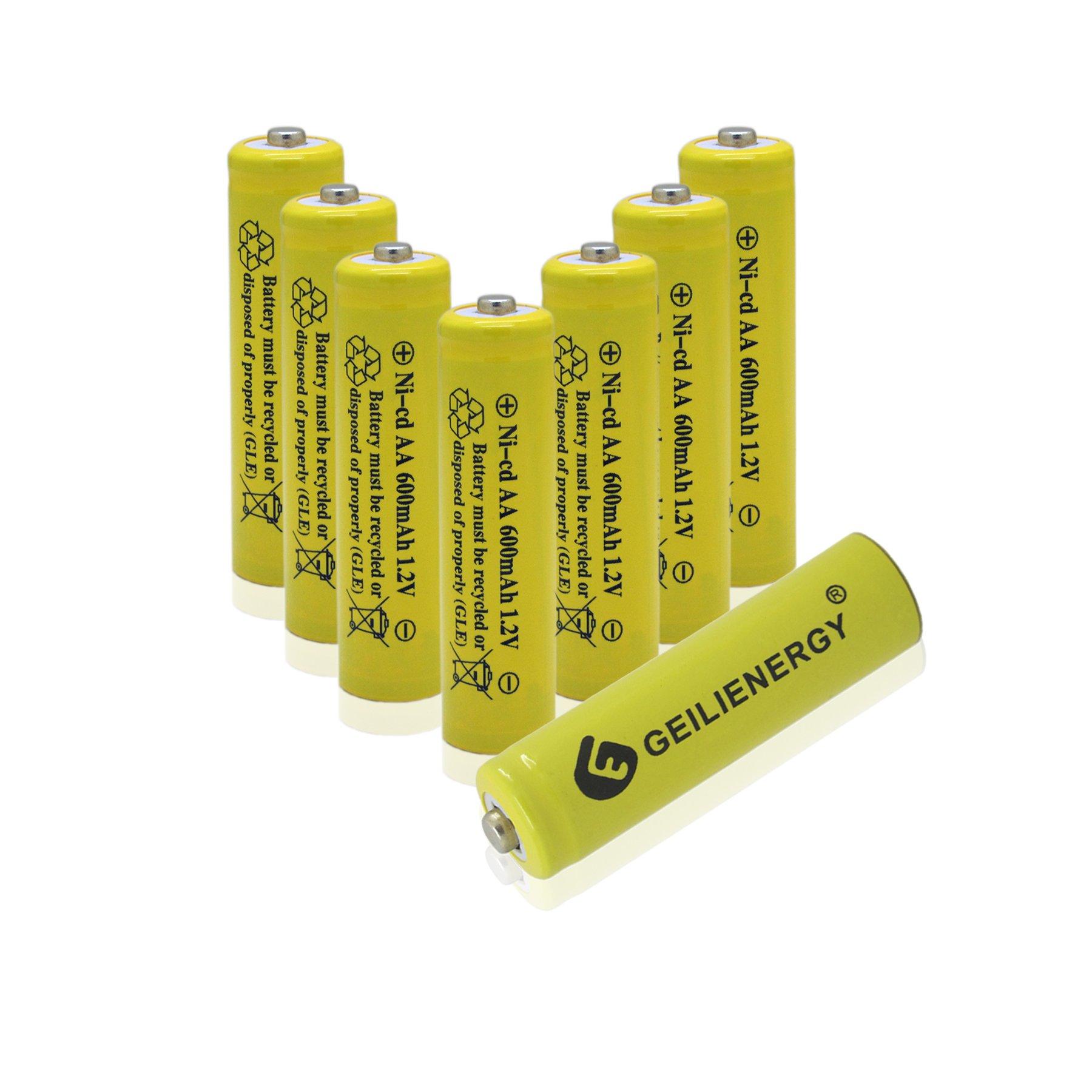 GEILIENERGY 600mAh Rechargeable Batteries Solar