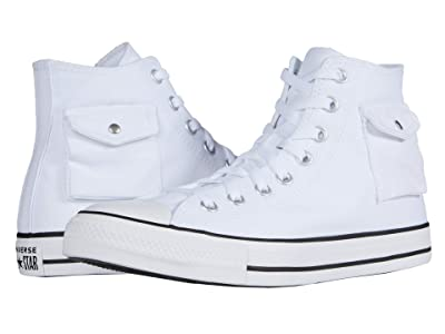 Converse Chuck Taylor All Star Pocket Hi (White/Black/White) Skate Shoes