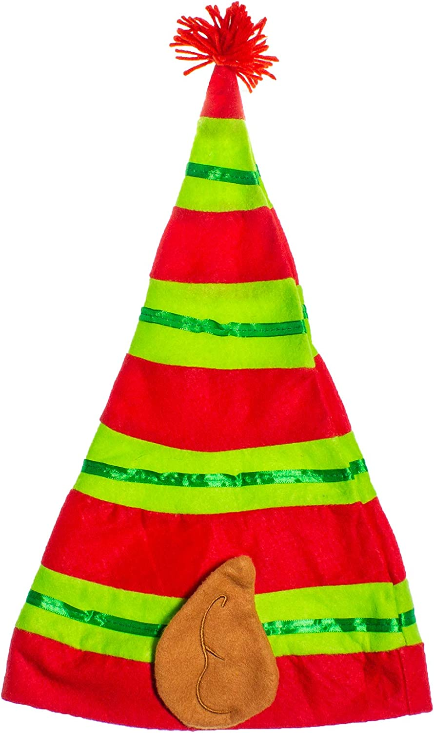 Windy City Novelties Festive Christmas Hat Stripped Ear Elf with Year-end annual account Cheap SALE Start