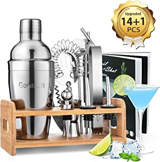 Bar set Cocktail Shaker Set Bartender Shaker Kit, Godmorn...