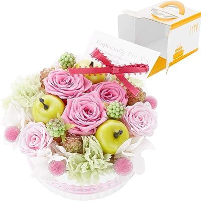 花まりか プリザーブドフラワー フラワーケーキ collection ギフト 誕生日 ケーキ (C.シャルロット)