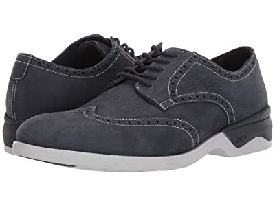 Johnston & Murphy Waterproof XC4(r) Elkins Casual Wing Tip Oxford (Navy Nubuck) Men