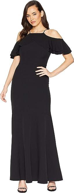 Crepe Cutaway Gown