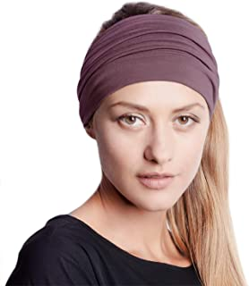 BLOM Original Multi Style Headband. 14+ Styles. Women Yoga Fashion Workout Running Athletic Travel. Wear Wide Turban Knotted + More