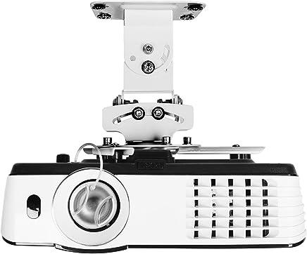 Duronic PB05XB Soporte para Proyector de Techo Universal y Articulado para Cine en Casa con Carga Máx 13,6 kg, Color Negro