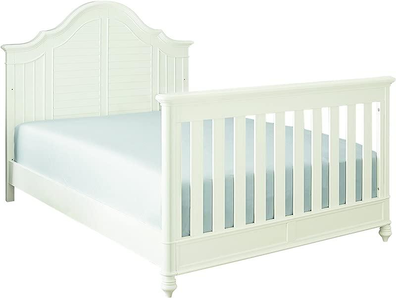 Bassett Baby Kids Nantucket Full Size Bed Rails White