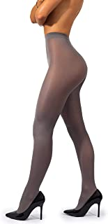 44b68c33f11e6 sofsy Opaque Microfibre Tights for Women - Invisibly Reinforced Opaque  Brief Pantyhose 40Den [Made In