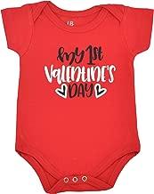 Unique Baby Girls My 1st Valentine's Day Onesie Layette Set