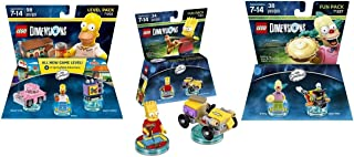 The Simpsons Homer Level Pack + Bart Fun Pack + Krusty Fun Pack - Lego Dimensions