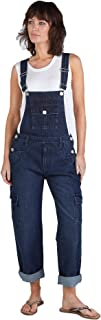 Womens Denim Dungarees with Cargo Pockets Ladies bib Overalls roll up Leg Festival Fashion DAPHNEDW