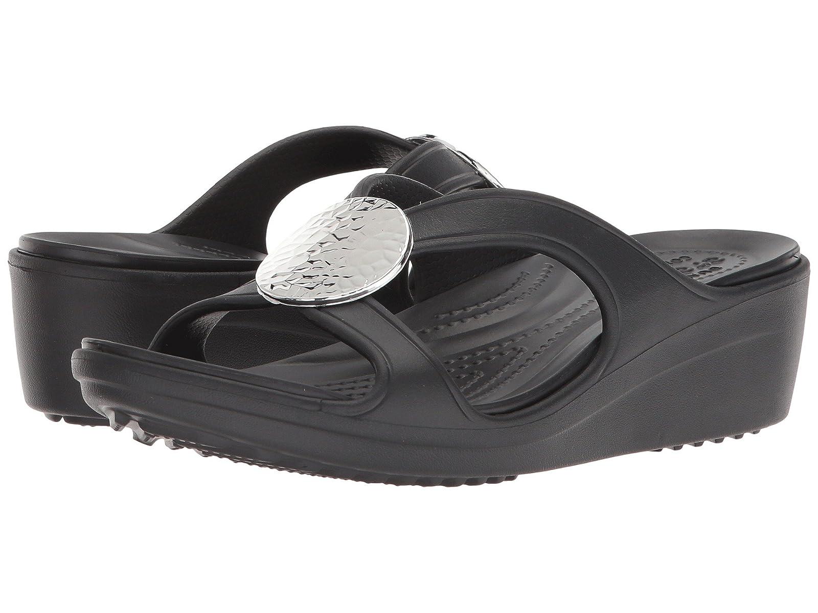Crocs Sanrah of Hammered Circle Wedge - List of Sanrah tidal shoes -Men's/Women's c3e89b
