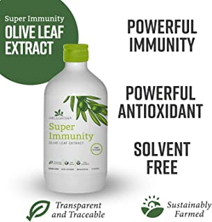 WellGrove Super Immunity Olive Leaf Extract | All Natural Vegan Dietary Supplement | Super Strength Immune Support, Promotes Cardiovascular Health, Antioxidants | Organic Non-GMO (Berry 500mL)