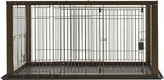 リッチェル 木製スライドペットサークル ワイド ダークブラウン