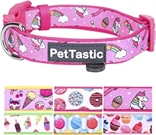 PetTastic Best Adjustable Dog Collar Durable Soft & Heavy Duty with Cute Sweet Dessert Design, Outdoor & Indoor use Comfort Dog Collar for Girls, Boys, Puppy, Adults, Including ID Tag Ring