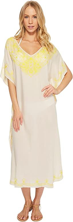 Embroidered Maxi Caftan