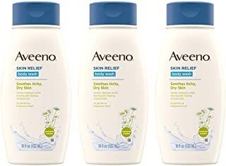 Aveeno Skin Relief Body Wash with Chamomile Scent & Soothing Oat, Gentle Soap-Free Body Cleanser for Dry, Itchy & Sensitiv...