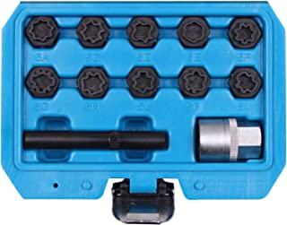 BELEY 12pcs Wheel Lock Lug Nuts Removal Set for Mercedes Benz, Automotive Wheel Anti-Theft Lug Nuts Installation and Remover Socket Tool Set