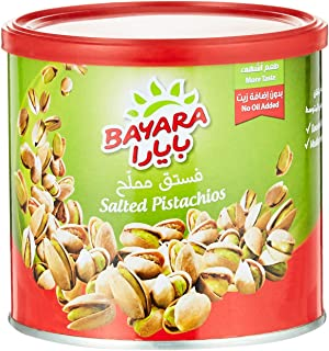 Bayara Snacks Pistachios Salted Can, 200 gm (Pack of 1)