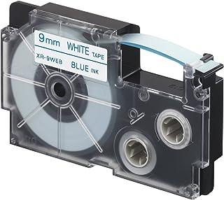 CASIO XR-9WEB1 Coloured Tape 9mm Blue/White