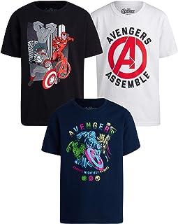 Marvel Avengers Boys 3 Pack T-Shirts