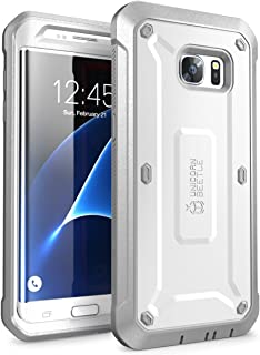 SUPCASE Unicorn Beetle Pro Series Case Designed for Galaxy S7 Edge, Full-Body Rugged Holster Case Without Built-in Screen Protector for Samsung Galaxy S7 Edge (2016 Release) (White/Gray)