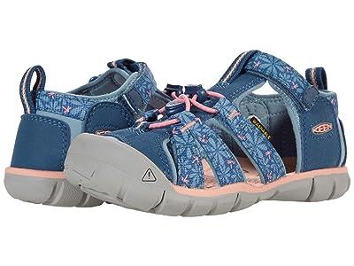KEEN Kids Seacamp II CNX (Little Kid/Big Kid) (Real Teal/Stone Blue) Girls Shoes